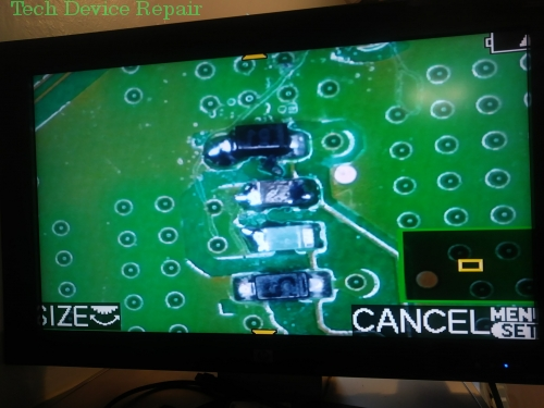 Diode and capacitor repalced